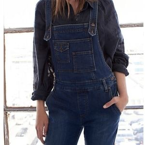 Free People Washed Jean Overalls Size 26